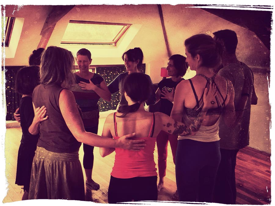 Still Flowing Yoga Teacher Training Droridge barn group circle