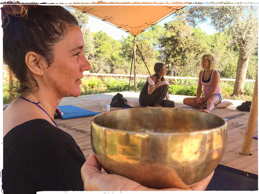 Still Flowing Yoga Teacher Training Gemma Mallol teaching meditation at Can Tunio